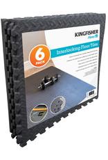 Kingfisher 6 Eva Foam Grey Floor Tiles Set