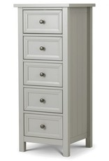 Maine 5 Drawer Tall Chest - Grey