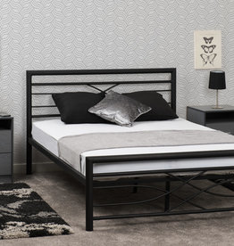 Seconique Kelly Black Metal Bed