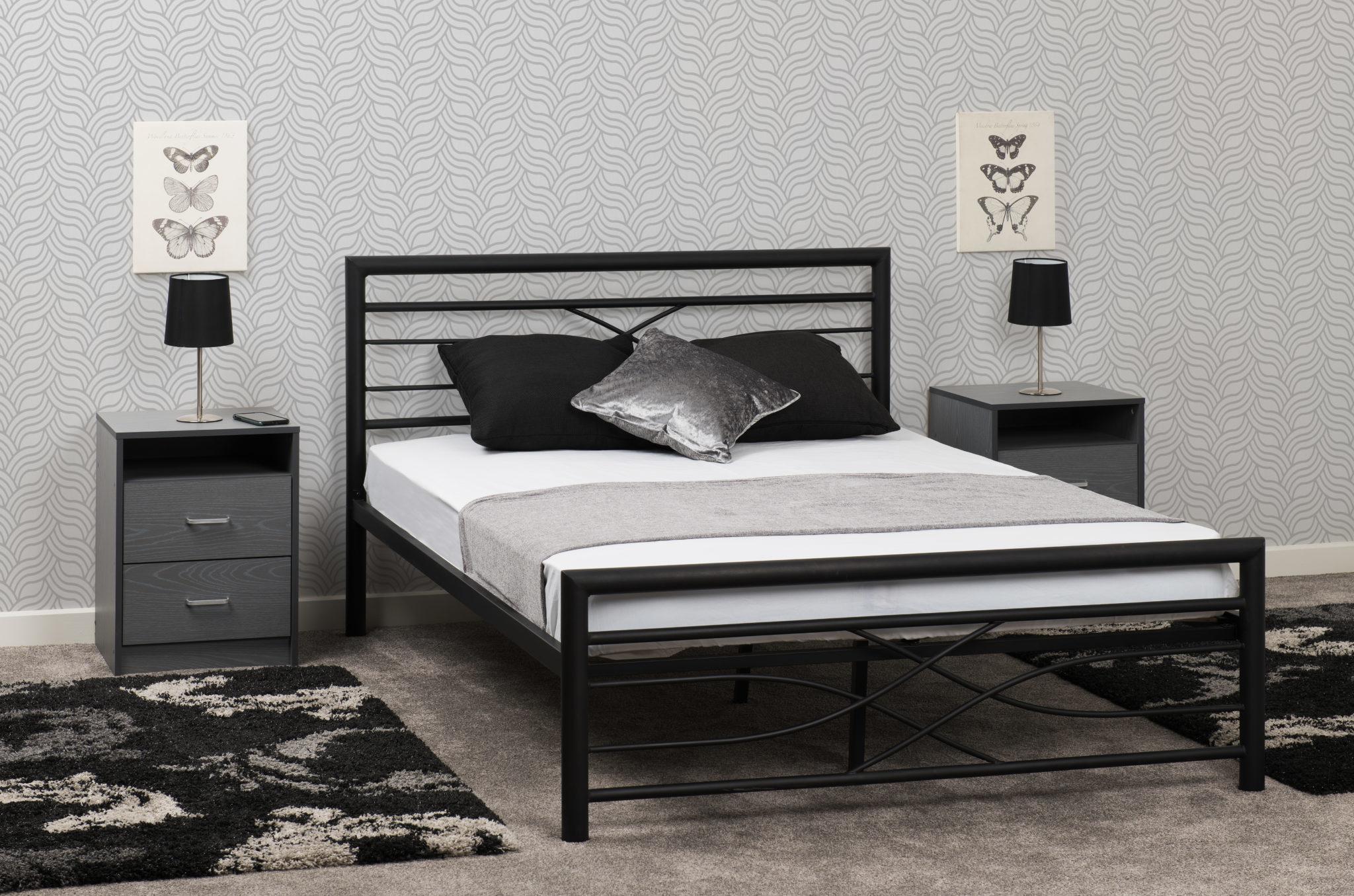 Seconique Kelly Black Metal Bed