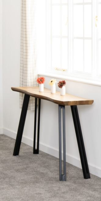 Industrial Style Wave Console Table