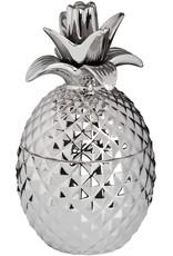 Silver Ceramic Pineapple Trinket Jar