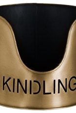 Hill Interiors Log's & Kindling Buckets + Matchstick Holder In Antique Bronze