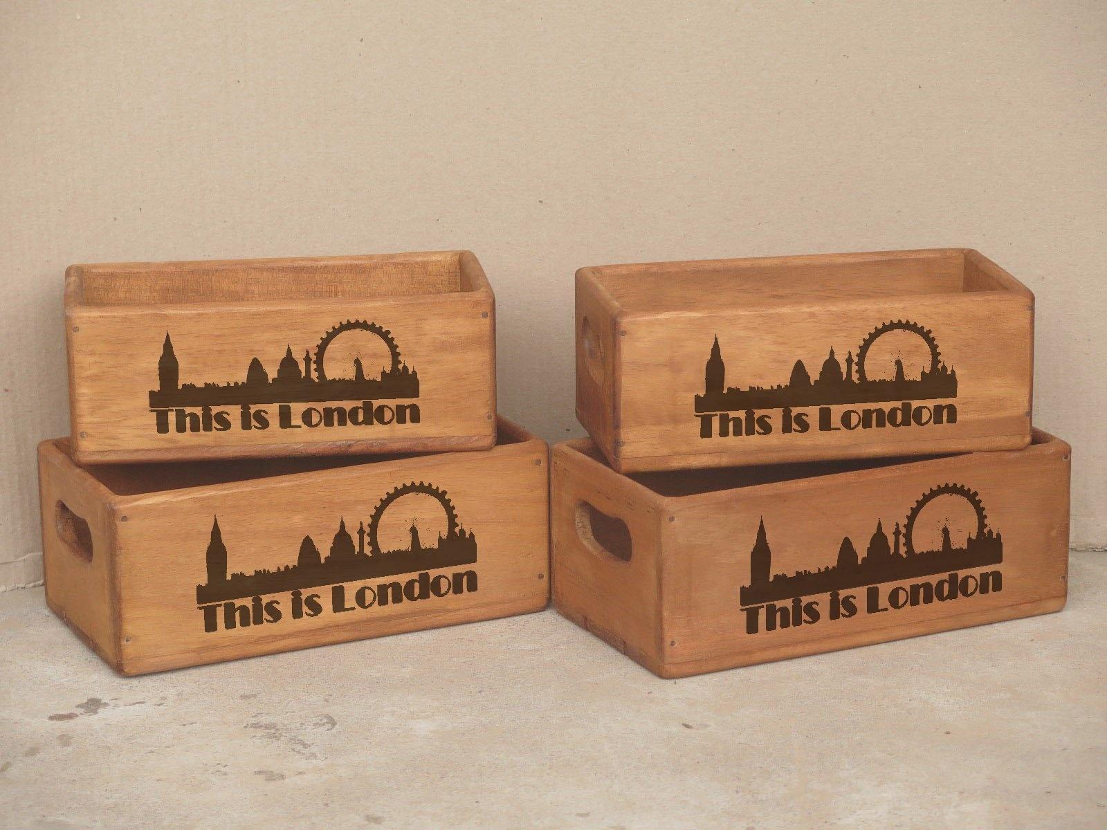 Besp-Oak Set Of 4 Rectangular Boxes London
