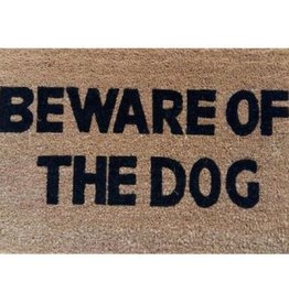 Besp-Oak Beware Of The Dog Door Mat