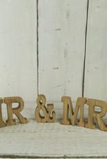 Wooden MR & MRS Word Set