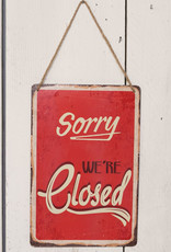 Metal OPEN and CLOSED Sign
