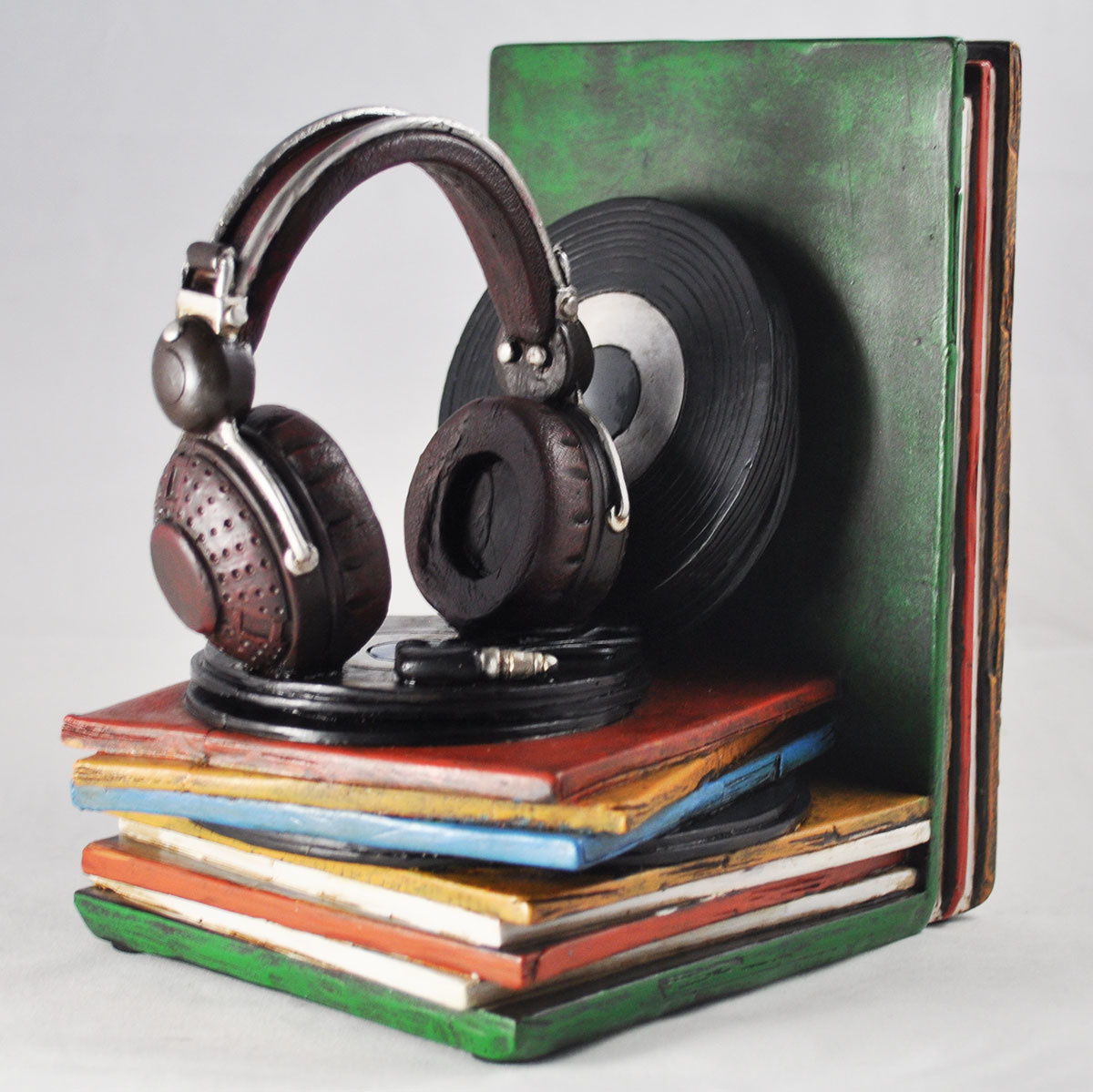 Records & Record Player Bookends