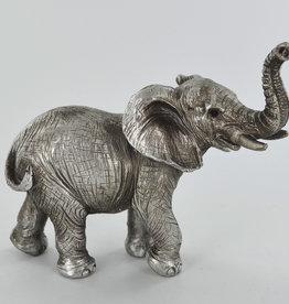 Antique Silver Elephant Ornament