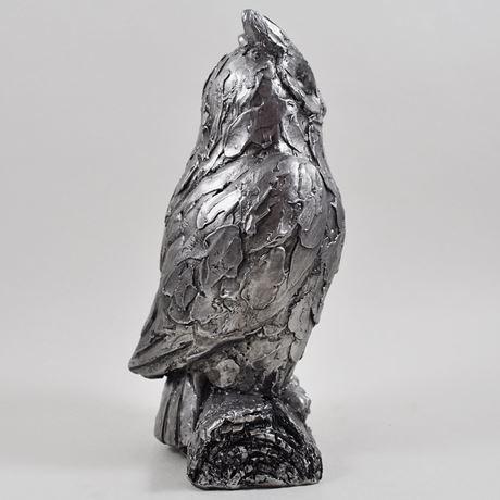 Antique Silver Owl Ornament