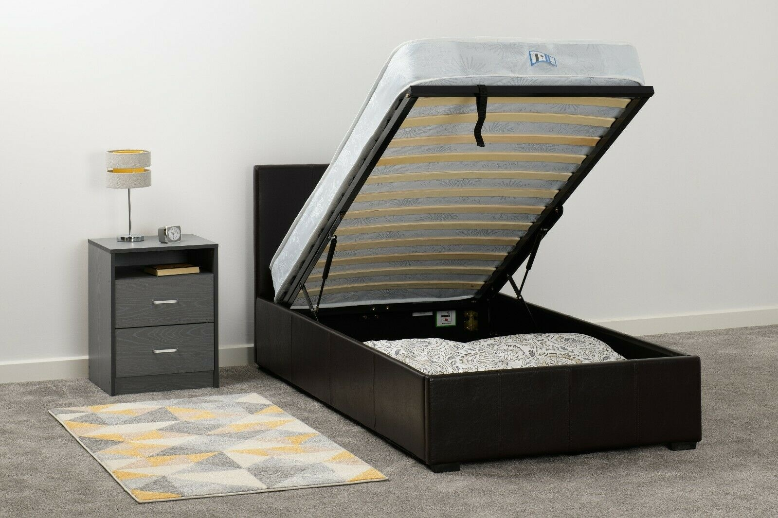Seconique Waverley Storage Bed Brown - Single