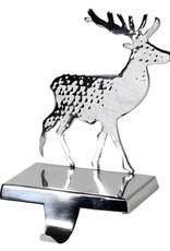 Silver Reindeer Stocking Holder