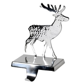 Silver Reindeer Stocking Holder