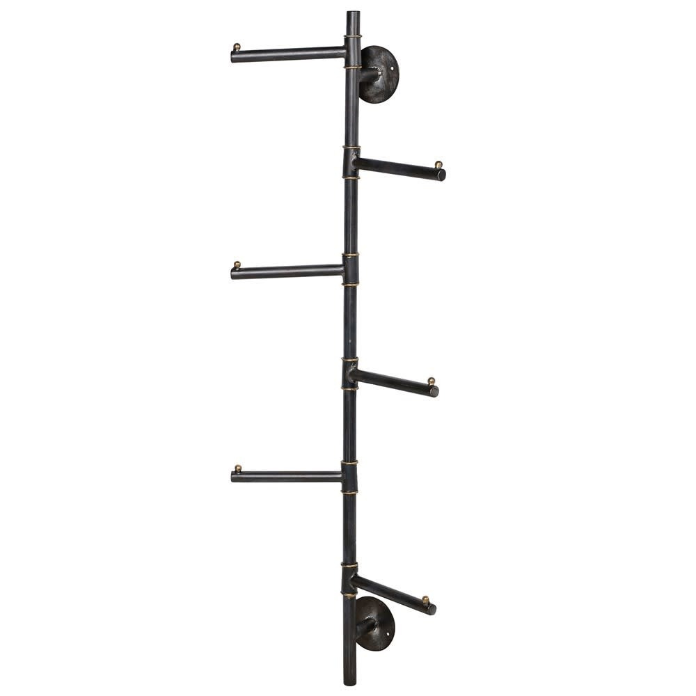 Industrial Style Vertical Six Prong Coat Hooks