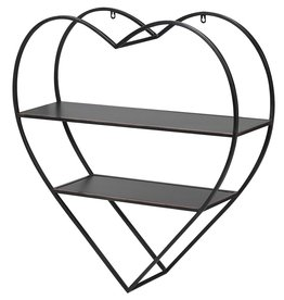 Heart Shaped Metal Wall Shelves