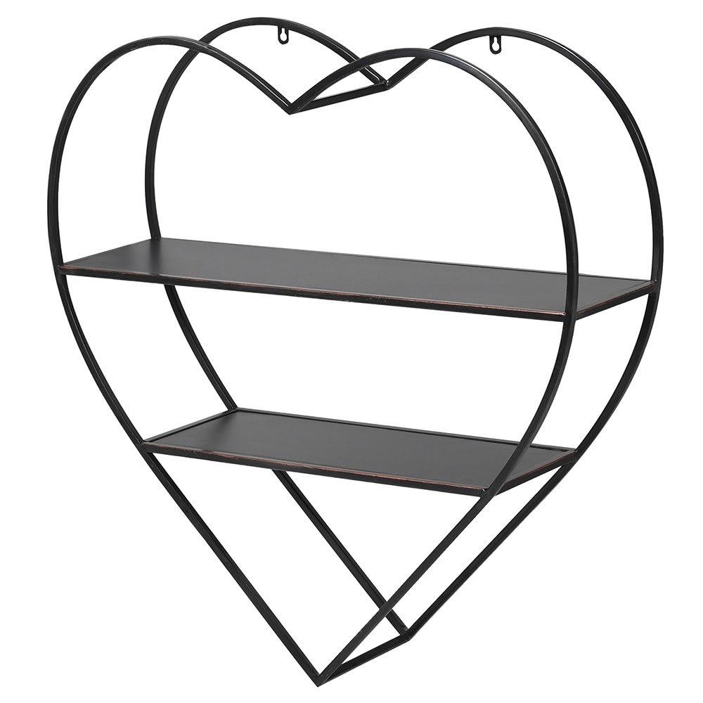 Heart Shaped Metal Wall Shelves