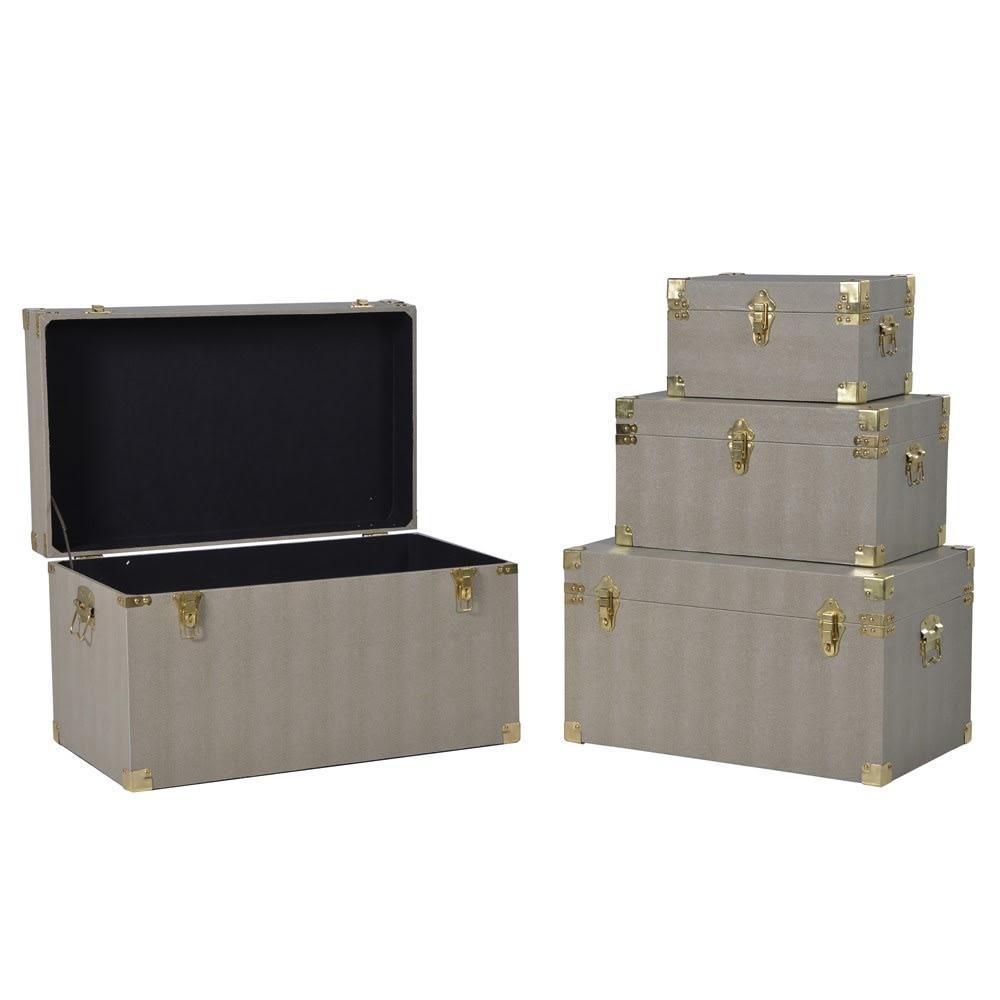 Set of 4 Beige Boxes