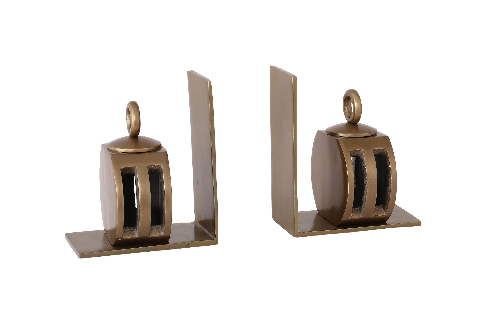Besp-Oak Bookends With Pulley