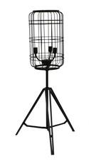 Besp-Oak Black Metal Caged Floor Lamp