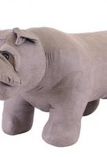 Besp-Oak Grey Bulldog Footstool