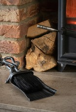 Hill Interiors Silver Brushed Steel Crook Top Hearth Tidy Set