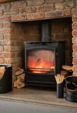 Hill Interiors Log's & Kindling Buckets + Matchstick Holder In Black