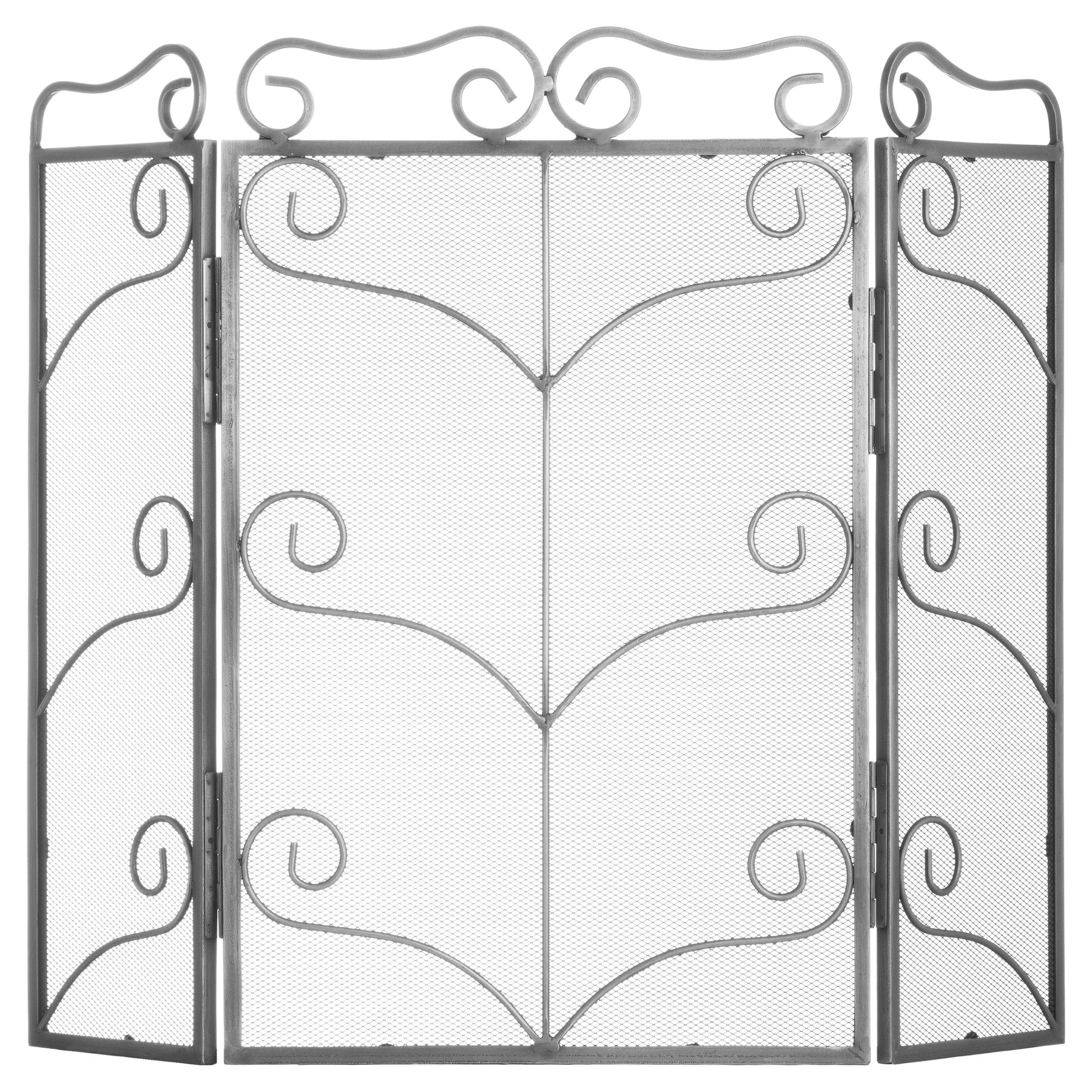 Hill Interiors Heavy Large Antique Silver Fire Screen
