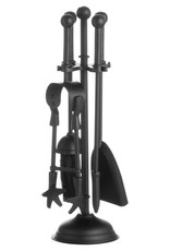 Hill Interiors Ball Topped Companion Set In Black