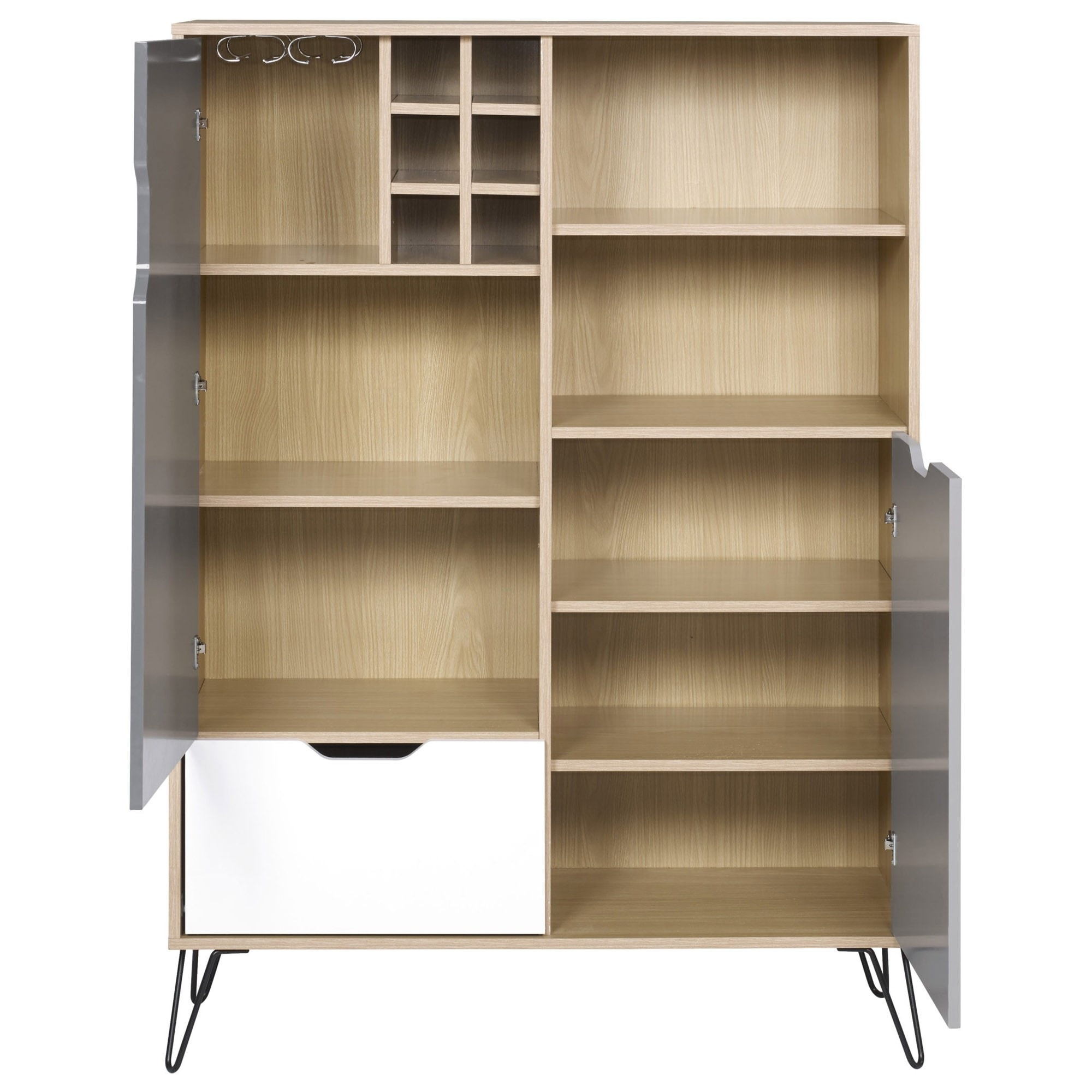 Seconique Bergen Tall Sideboard With Wine Rack