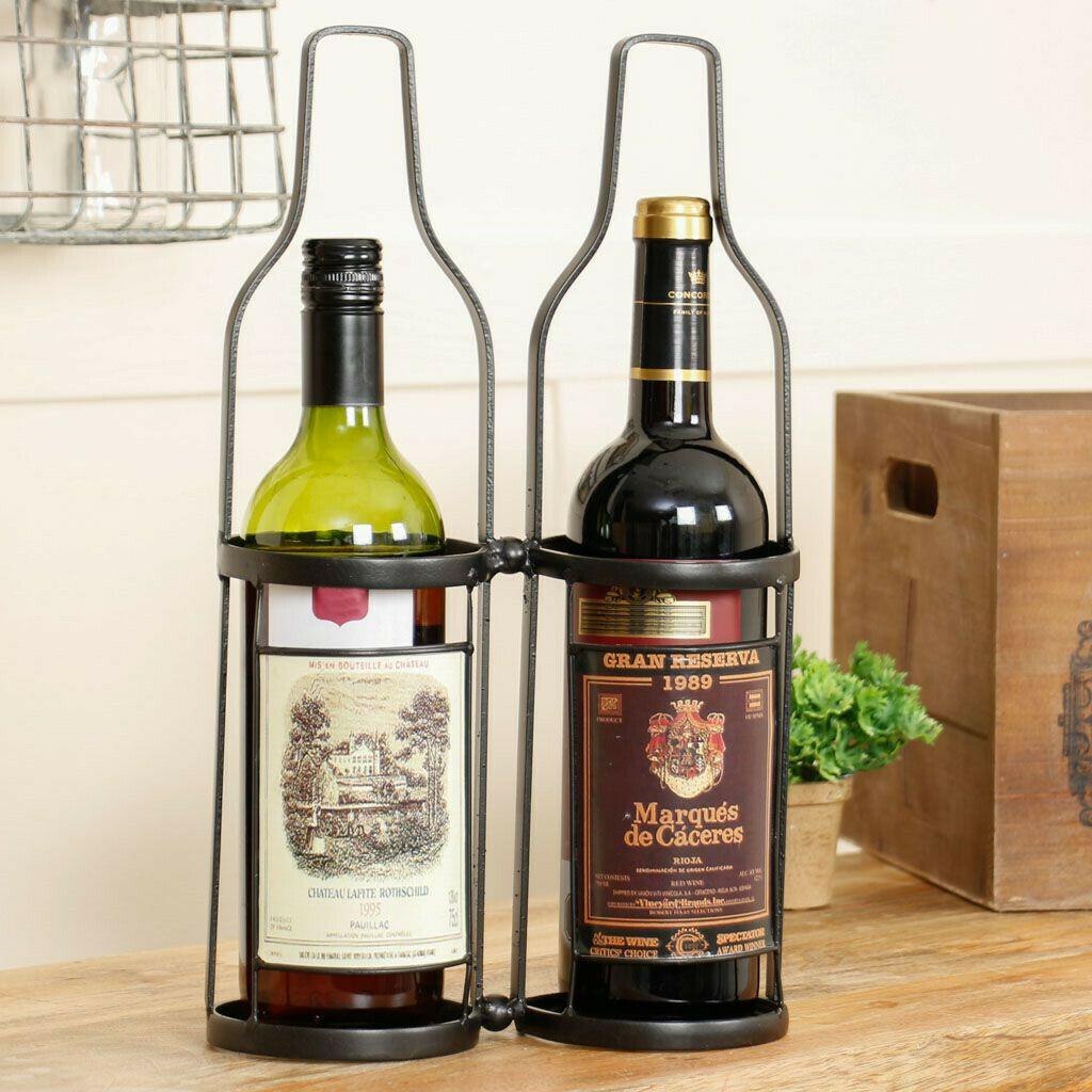 Vintage Wine Bottle Stand / Carrier