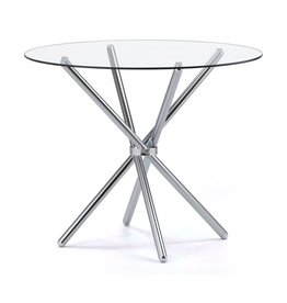 Casa Round Glass Dining Table