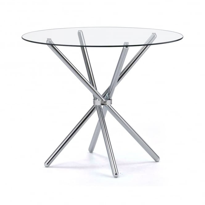 LPD Casa Round Glass Dining Table