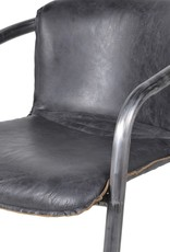 Antique Slate Leather Chair