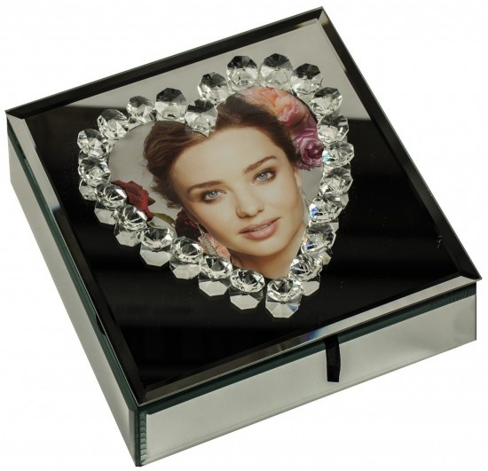 Heart Mirrored Storage Box