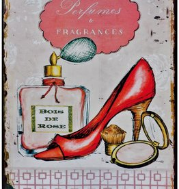 Shoe Phew Tin Wall Plaque