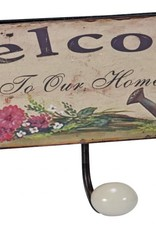 Welcome To Our Home Triple Metal Wall Hooks