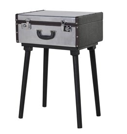 Silver Standing Suitcase Table