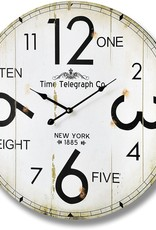 Hill Interiors Time Telegraph Company Wall Clock