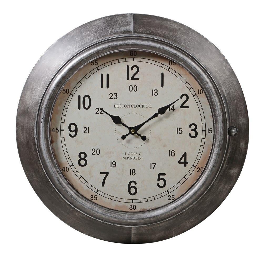 Antique Silver Wall Clock