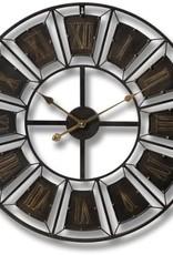 Hill Interiors Large Metal Frame Wall Clock