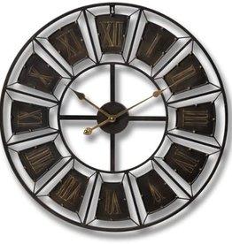Hill Interiors Large Metal Frame Wall Clock