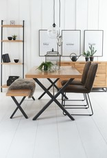 Urban Style Dining Table & Bench