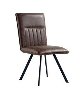 Brown PU Dining Chair - Pair