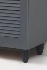 3 Door Shoe Cabinet - Dark Grey