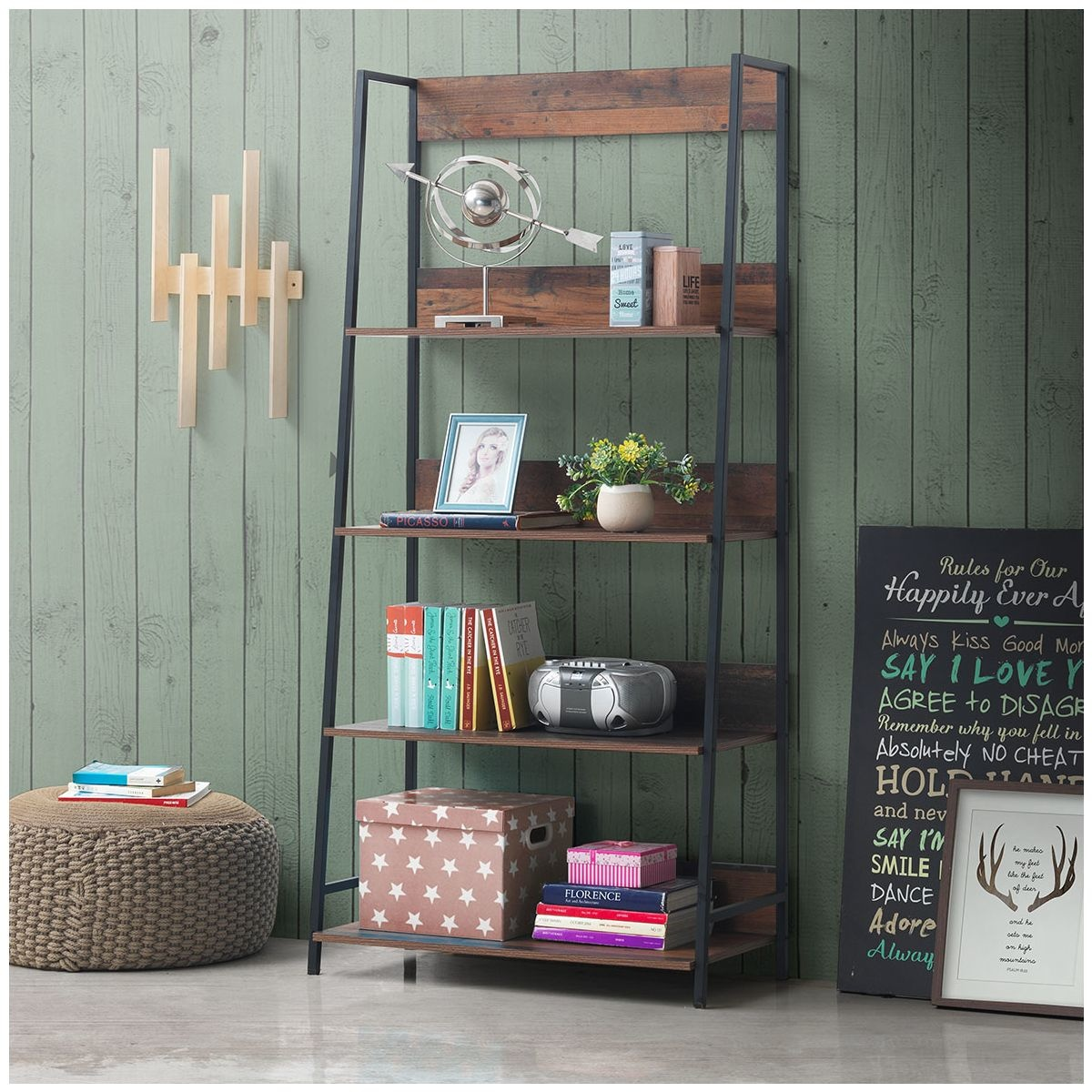 Industrial Style Bookcase