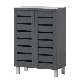 2 Door Shoe Cabinet - Dark Grey