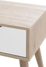 Scandinavian 1 Drawer Lamp Table - White