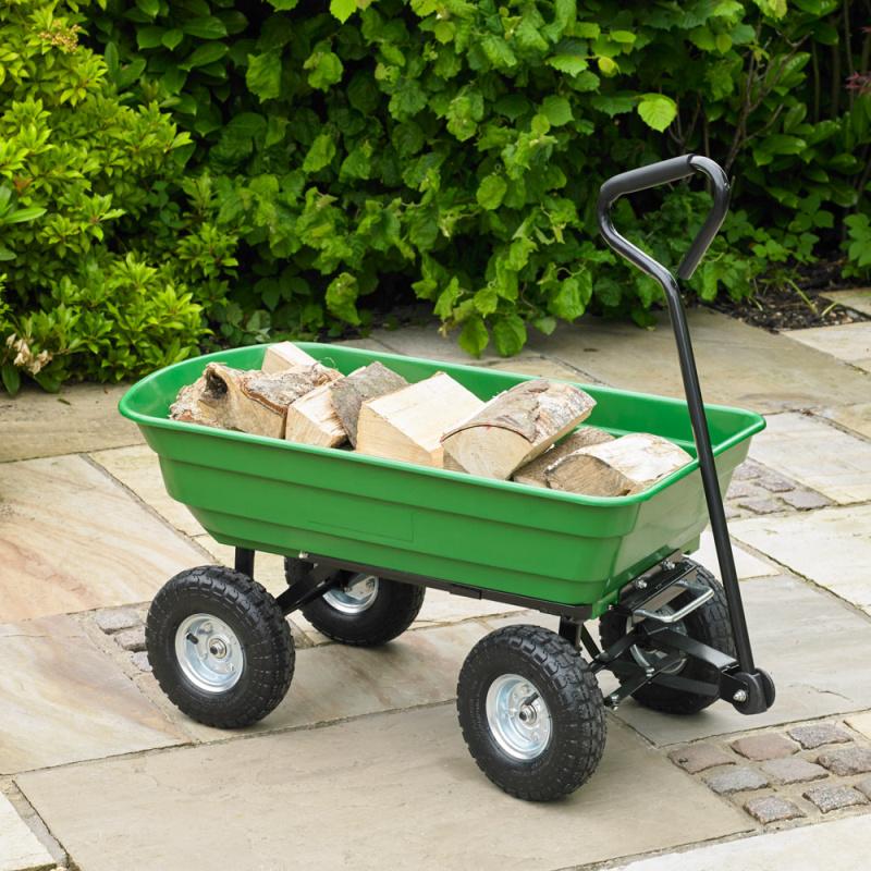 Kingfisher 4 Wheel Tipping Action Garden Cart