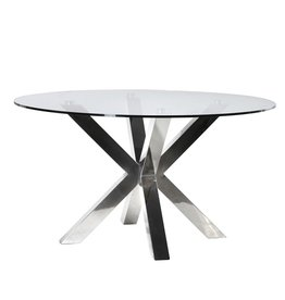 Terano Round Glass Dining Table