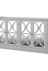 Grey Fayence 4 Door Mirrored Sideboard
